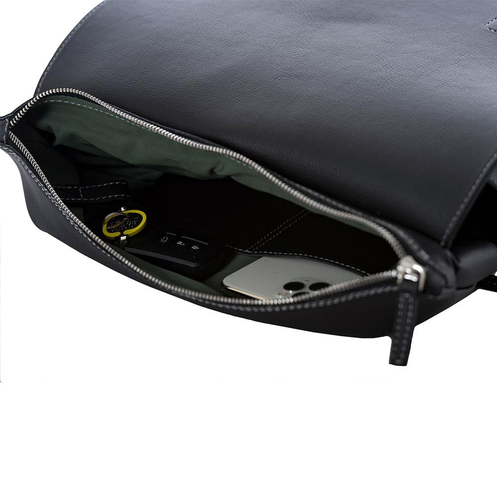 Black Vegan Leather Backpack Handmade in Italy HUMNZR