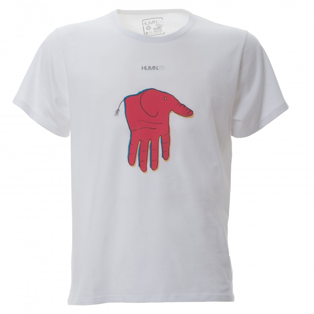 Eco Friendly Organic Cotton T-Shirt Short Sleeve Made in Italy HUMNZR