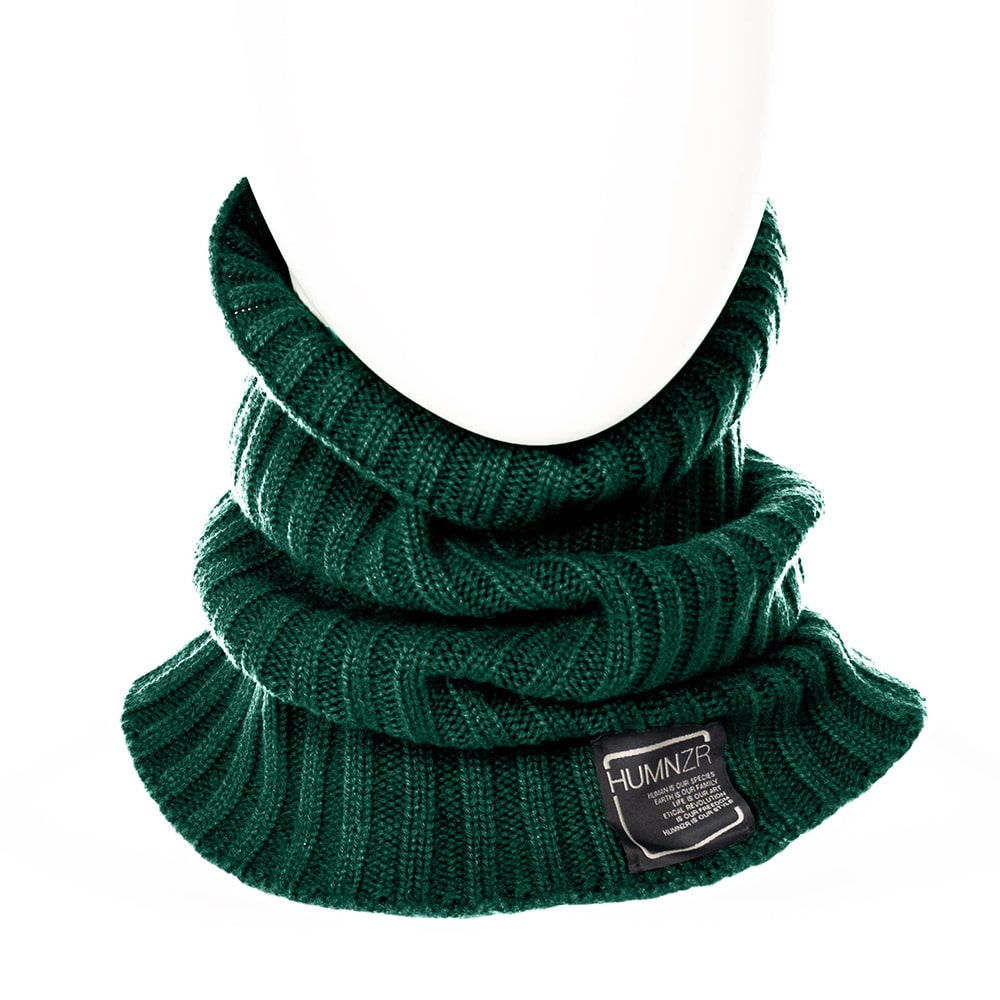 Recycled Cashmere Neck Gaiters Paris HUMNZR Eco Friendly Fashion Etichically Made in Italy